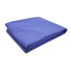 Lençol Avulso Casal Premium 100% algodão Percal Azul Royal Estamparia