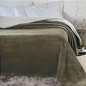 Cobertor 1,80 x 2,20 m Casal Denver Sherpa Marrom Corttex