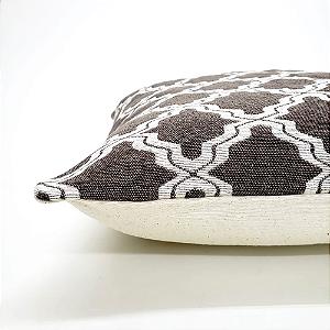 Capa para Almofada 43 x 43 cm Arabesco Castanho Jacquard Tecidos