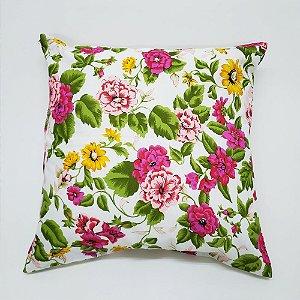 Capa para Almofada 60 x 60 cm Floral Colorida Bellestar