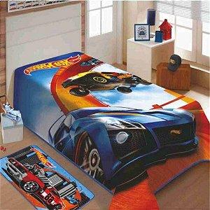 Cobertor Solteiro Juvenil Infantil Hot Wheels Jolitex