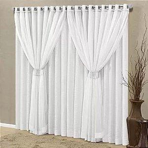 Cortina 4,00 x 2,70 m Fenix Ref 3754 Branco Decorativa