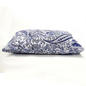 Fronha Avulsa 50 x 70 cm 100% Algodão Floral Azul Camesa
