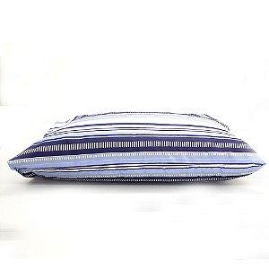 Fronha Avulsa 50 x 70 cm 100% Algodão Listras Azul Estamparia