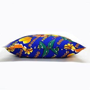 Fronha Kambri Chitão Azul 50x70cm 100%Algodão