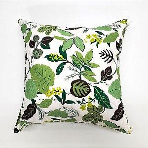 Kit Almofada Com Enchimento 45 x 45 cm Folhas Verde Bellestar