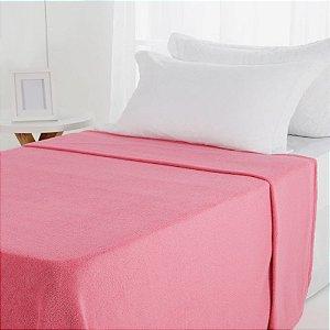 Manta Microfibra 1,50 x 2,00 Solteiro Fleece pink Andreza
