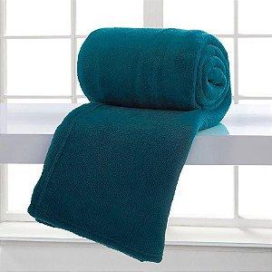 Manta Microfibra 2,40 x 2,20 m King Home Design Azul Adriático Corttex