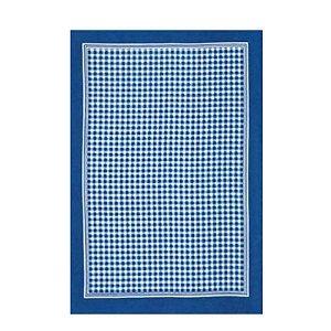 Pano de Copa 45 x 65 cm Xadrez Azul Dohler