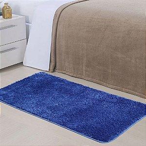 Tapete 0,50 x 1,00 m Apolo Azul Prata Têxtil