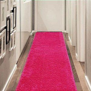 Tapete 0,66 x 1,80 m Apolo Pink Prata Têxtil