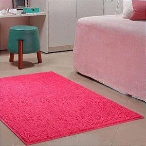 Tapete 1,00 x 1,50 m Apolo Pink Prata Têxtil
