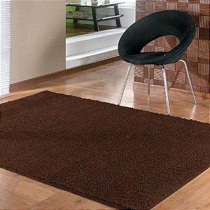 Tapete 1,50 x 2,00 m Apolo Chocolate Prata Têxtil