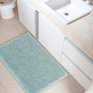 Tapete Banheiro 40x60cm Dallas Microfibra Azul Claro