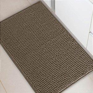 Tapete Banheiro 40x60cm Dallas Microfibra Marrom Claro