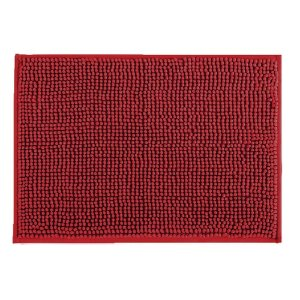 Tapete Banheiro 40 x 60 cm Dallas Microfibra Vermelho Corttex