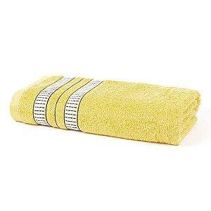 Toalha Banho 70 x 135 cm Mike 100% Algodão Amarelo Santista