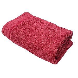 Toalha Banho 75 x 140 cm 100% algodão Eleganz Vermelha Lm Peter
