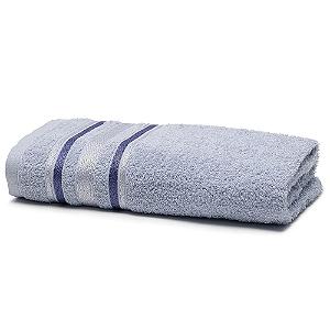 Toalha de Banho 70 x 135 cm Prata 100% Algodão Serena Azul Santista
