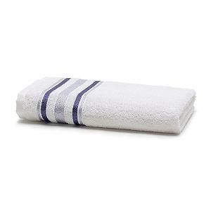 Toalha de Banho 70 x 135 cm Prata 100% Algodão Serena Branca Santista