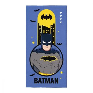 Toalha de Banho Aveludada 70 x 140 cm Infantil Batman Azul Lepper