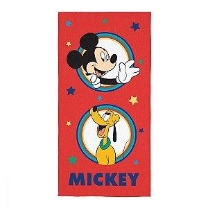 Toalha de Banho Aveludada 70 x 140 cm Infantil Mickey Vermelho Lepper