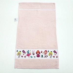 Toalha de Lavabo Infantil 30 x 46 cm Transfer Rose LM peter