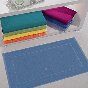 Toalha de Piso 100% Algodão 50 x 70 cm Light Azul Santista