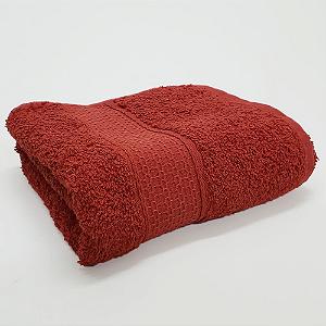 Toalha de Rosto 50 x 80 cm Natural 100% Algodão Buettner Vermelho Bouton