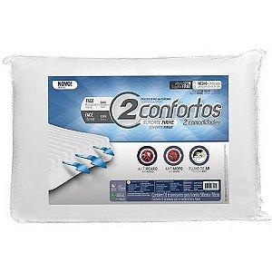 Travesseiro 50 x 70 cm Dois Confortos Fibrasca