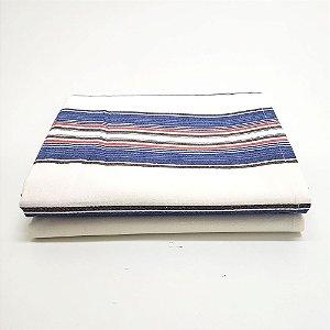 Xale para Sofá 1,40 x 2,00 m Listra Azul e Branco BelleStar