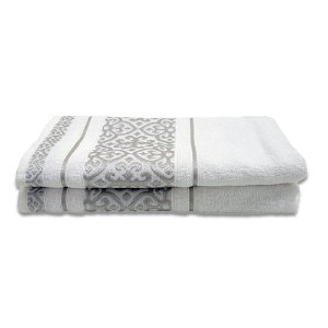 Toalha de Banho Cavhome Velvet  Jacquard Branco