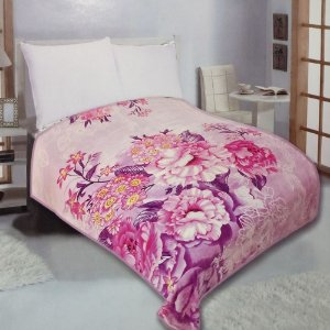 Cobertor Duplo Super Sofit Solteiro Flores Realce Top Cmom Viés