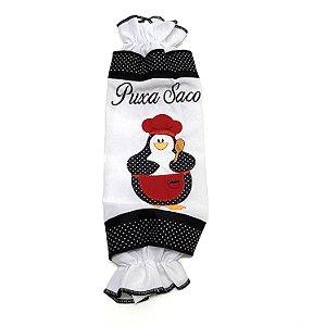 Puxa Saco Clássico com Bordado Decorativo Pinguin