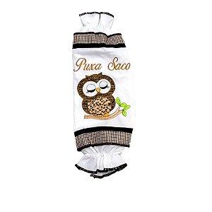 Puxa Saco Clássico com Bordado Decorativo Coruja