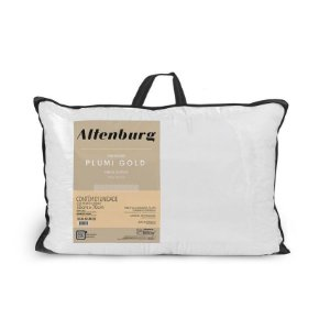 Travesseiro Altenburg Plumi Gold Branco - 50cm x 70cm