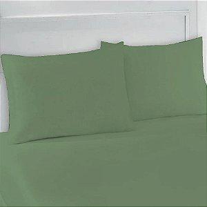 Lençol Avulso com Elástico Casal em Malha  Verde