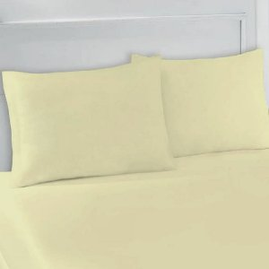 Lençol Avulso com Elástico Casal em Malha Amarelo