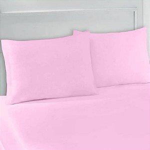 Lençol Avulso com Elástico King em Malha  Rosa Pink
