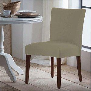 Capa para Cadeira Universal 100% Poliéster Bege Arte Cazza