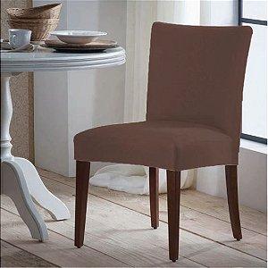 Capa para Cadeira Universal 100% Poliéster Marron Arte Cazza