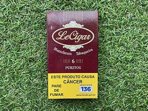 Charuto Le Cigar  Puritos - Petaca com 6