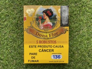 Charuto Dona Flor Capa Connecticut Robusto - Petaca com 5