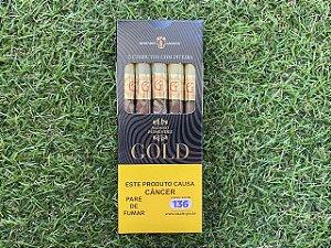 Cigarrilha Alonso Menendez Gold Petaca com 5 com Piteira