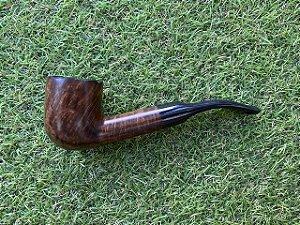 Cachimbo Maestro Briar Semi Bent - Brown Pot Rustic - Cod78