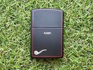 Isqueiro Zippo Cachimbo - Black Red Line