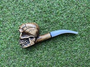 Cachimbo Firmino Art - Skull White