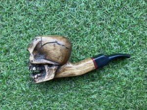 Cachimbo Firmino Art - Skull Black