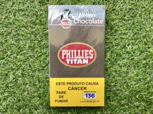 Charuto Phillies Titan Chocolate - Petaca com 5