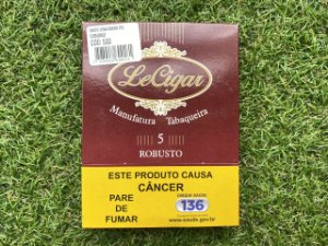 Charuto Brasileiro Le Cigar Robusto - Petaca com 5